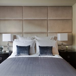 Beige Upholstered Wall Panel - London Headboards Battersea