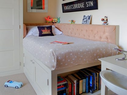Children Pink Tufted Upholstered Headboard - London Headboards